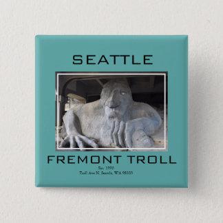 Seattle Fremont Troll Button