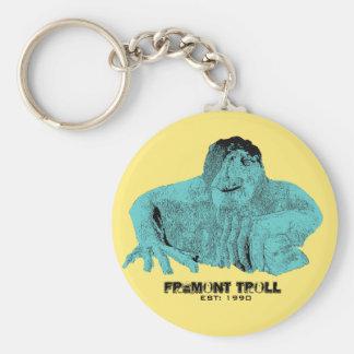 Seattle Fremont Troll Keychain
