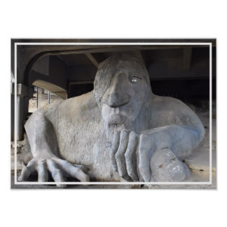 Seattle Fremont Troll Poster (various sizes)