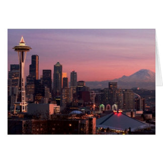 Seattle from Kerry Park. Card