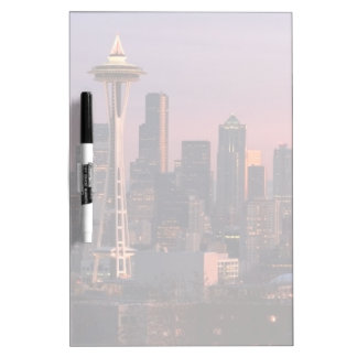 Seattle from Kerry Park. Dry Erase White Board