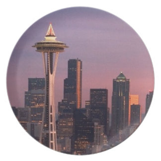 Seattle from Kerry Park. Plate