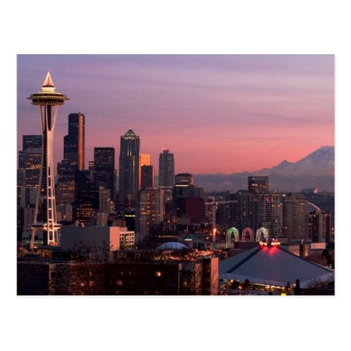 Seattle from Kerry Park. Postcards