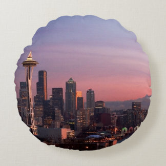 Seattle from Kerry Park. Round Cushion