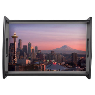 Seattle from Kerry Park. Serving Tray