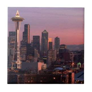 Seattle from Kerry Park. Small Square Tile