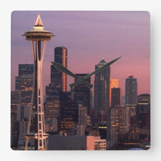 Seattle from Kerry Park. Square Wall Clock