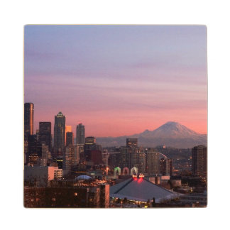 Seattle from Kerry Park. Wood Coaster