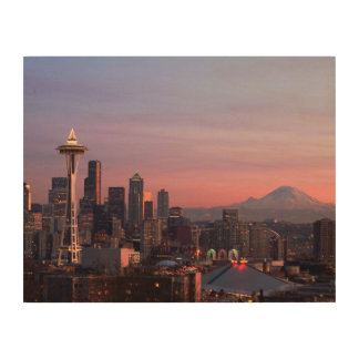 Seattle from Kerry Park. Wood Print