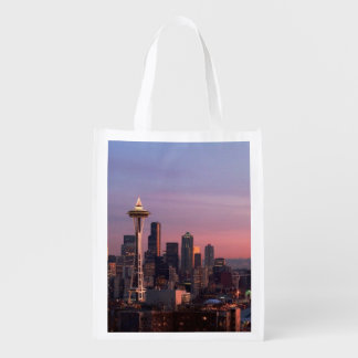 Seattle from Kerry Park. Reusable Grocery Bags