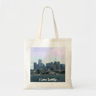Seattle from the Ferry Canvas Bags