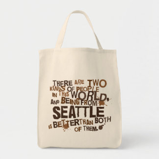 Seattle (Funny) Gift Tote Bags