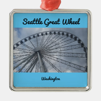 Seattle Great Wheel Puget Sound Washington Christmas Ornament