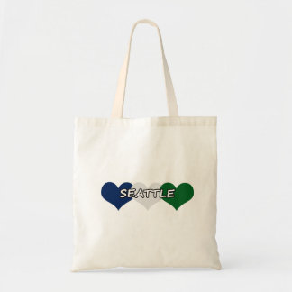 Seattle Heart Tote Bags