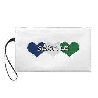 Seattle Heart Wristlet Clutches