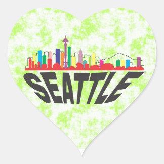 Seattle Heart Sticker