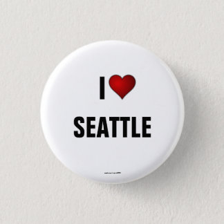 Seattle: I Love Seattle pinback button