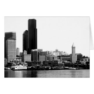 Seattle in B W Cards