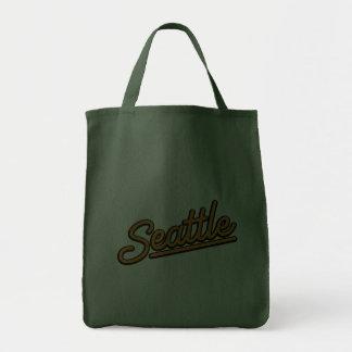 Seattle in orange tote bag
