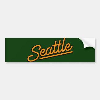 Seattle in orange bumper sticker