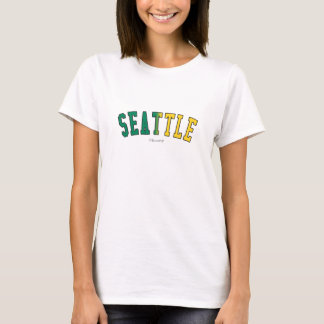 Seattle in Washington state flag colors T-Shirt