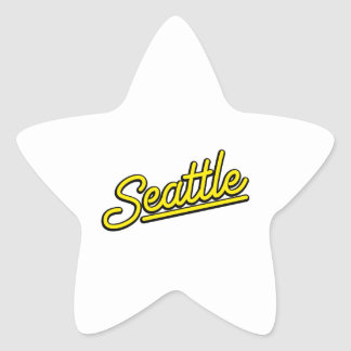 Seattle in yellow star sticker