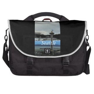 Seattle Landmark with Football Team Spirit Bags For Laptop