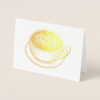 Seattle Latte Coffee Shop Cup of Coffee Foodie Foil Card