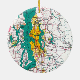 Seattle Map Ornament