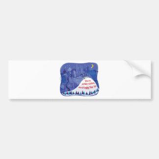 Seattle, Mount Rainier Holiday card Bumper Sticker