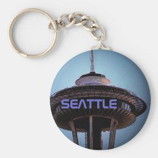 Seattle (Needle) Keychain - Customized