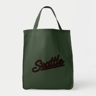 Seattle neon in red canvas bags