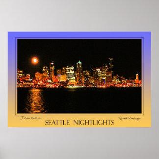 Seattle Nightlights Poster