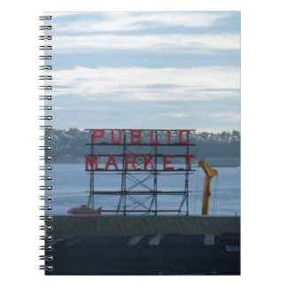 Seattle Pike Place Market Sign Notebook