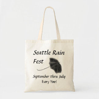 Seattle Rain Fest Budget Tote Bag