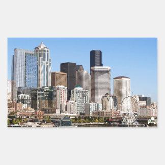 Seattle Rectangular Sticker
