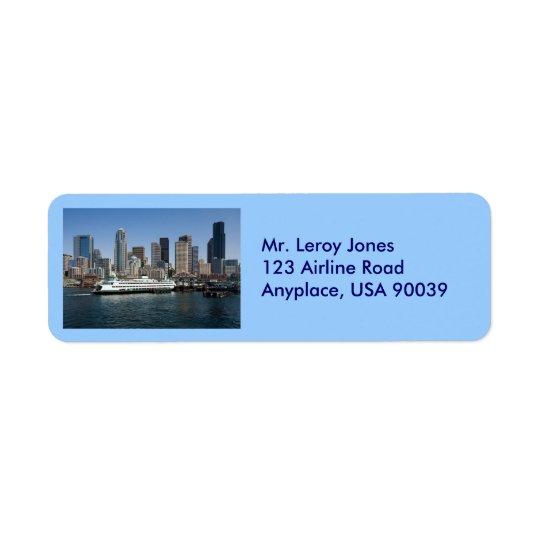Seattle Return Address Label