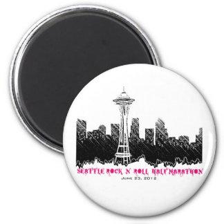 Seattle Rock n Roll Half Marathon 2012 6 Cm Round Magnet