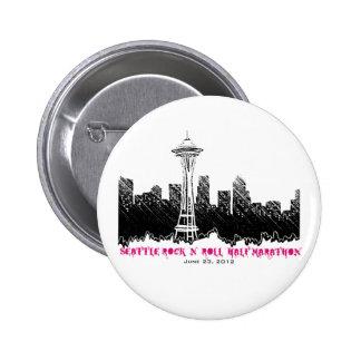 Seattle Rock n Roll Half Marathon 2012 Pinback Button