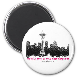 Seattle Rock n Roll Half Marathon 2012 Refrigerator Magnets