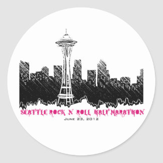 Seattle Rock n Roll Half Marathon 2012 Round Sticker