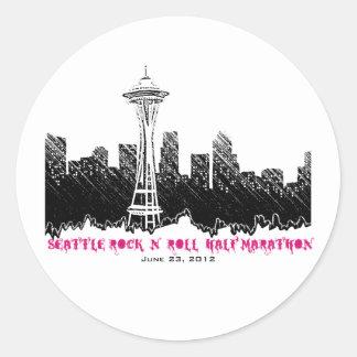 Seattle Rock n Roll Half Marathon 2012 Round Stickers