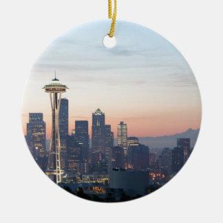Seattle Round Ceramic Decoration