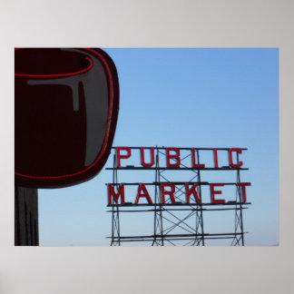 Seattle s Public Market Print