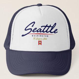 Seattle Script Trucker Hat