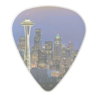 Seattle seen from Kerry Park in Queen Anne Acetal Guitar Pick