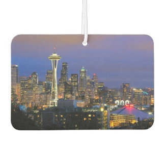 Seattle seen from Kerry Park in Queen Anne Car Air Freshener