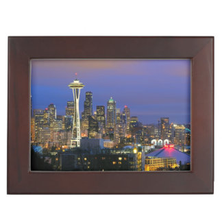 Seattle seen from Kerry Park in Queen Anne Keepsake Box