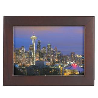 Seattle seen from Kerry Park in Queen Anne Keepsake Boxes