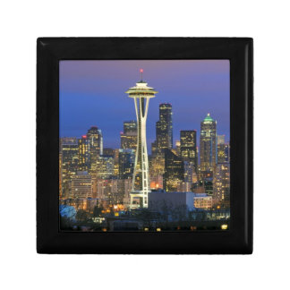 Seattle seen from Kerry Park in Queen Anne Small Square Gift Box